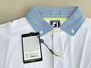 FootJoy Smooth Pique Polo Large White