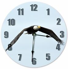 "10.5"" BALD EAGLE BIRD CLOCK - Large 10.5"" Wall Clock - Home Décor Clock - 3122"