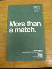 2011/2012 Norwich City: More Than A Match - Opportunities At Norwich City, Spons