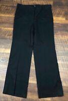 Talbots Heritage Black Wide Leg size 10 Casual Career Women's Dress Pants
