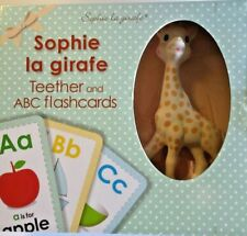 Sophie The Giraffe Teether Gift Set with ABC Flash Cards - BRAND NEW in BOX!