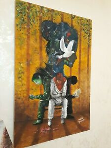 A painting of artist Mohamed Khalil (Colonial resistance)