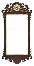 Queen Anne Mirror In beautiful walnut veneer. Crest with carved and . Lot 1423