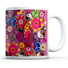 Hippy Pattern - Drinks Mug Cup Kitchen Birthday Office Fun Gift #15776