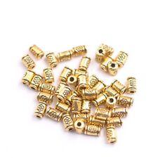 50/100Pcs Antique Silver/Gold/Bronze tube Charm Spacer Beads for Bracelet E3139