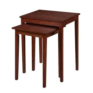Convenience Concepts American Heritage Nesting End Tables, Mahogany - 7105076MG