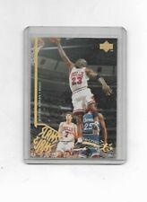 1995-96 Upper Deck Michael Jordan Electric Court GOLD Slams & Jams {NRMT/MINT)