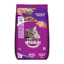 Whiskas Adult 1 year) Dry Cat Food,cat Meal,Pet Food Mackerel Flavor,7kg Pack