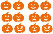 Halloween 12 Pumpkin Orange Vinyl Stickers Window Decorations Spooky Party Kids