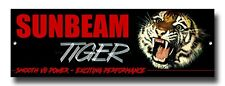 "SUNBEAM TIGER COLLECTABLE METAL SIGN,CLASSIC BRITISH SPORTS CARS.SIZE 12"" X 4"""