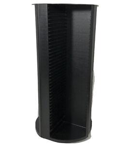 Laserline 160 CD Storage Rack Spinning Tower Rotating Display Organizer Black