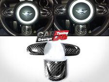 Carbon Insert Steering Wheel Spoke Cover For MINI COOPER R55 R56 R57 R58 R59