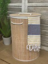 Bamboo Laundry Hamper Basket Clothes Linen Organiser Bathroom Kitchen Storage