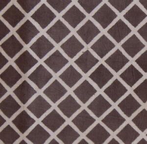 2.5 Yard  Grey hand Block Printed Cotton Craft natural Color Dressmaking Fabric
