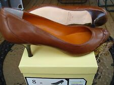 "MAX STUDIO NEW IN BOX ""JADA"" LEATHER UPPER/SOLE ""OSTRICH"" DETAILED PUMP SIZE 8 M"