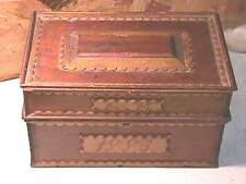1883 Tramp Art Christmas Box- E B Bly