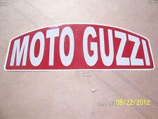 "1- Vintage Looking MOTO GUZZI 3.5"" X 8.5"" (New Maroon and Grey Vinyl Sticker)"