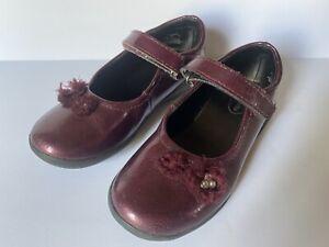 Stride Rite Toddler Girls Shoes AMANDA Sz 11.5 Purple Potion MJ Patent Leather