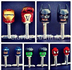LEGO Marvel Superhero Cufflinks Ironman Batman Spiderman Wedding Mens Groom Gift