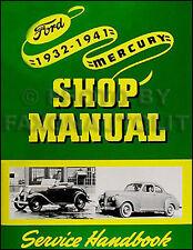 1932-1941 Ford Car and Pickup Truck Shop Manual Repair Service Book V8 85 and 95