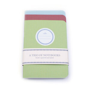 Pirongs Trio of Notebooks A6 One Each of Lined, Squared and Plain 48 Pages Each
