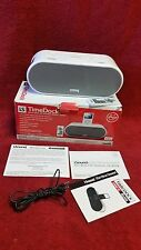 iSound Time Dock Alarm Clock & Speaker Sys. iPod/Mp3 Players-White with remote!