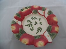 Ceramic Candy, Relish, Candle Dish with Apple Motif by JKL