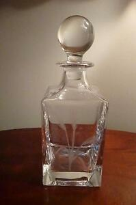 Quality Vintage RCR Lead Crystal Whisky Decanter Signed Weight 1.655 Kilos