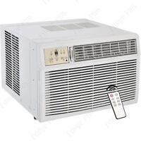 8000 BTU Window AC Unit w/ Heating, 115V Standard Air Conditioner Fan & Remote