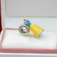 New Sterling Silver PANDORA Charm Disney SNOW WHITE DRESS DANGLE 791579ENMX