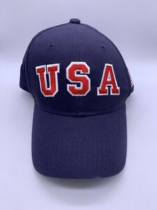 Team USA Flag US Shooting Olympic Embroidered Hat Adjustable Men's Adult Cap