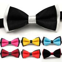 Men Classic Wedding Formal Party Tuxedo Pre Tied Bowtie Satin Bow Tie Neck Tie