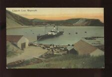 Dorset LULWORTH Cove Paddle Steamer 1908 PPC by Boots