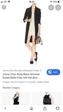 Jimmy Choo 40, Uk 6,5-7 Black Suede Flats, Comfy