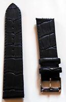 Neu hochwertiges Elysee Uhrenband Uhrenarmband Leder Black 22mm E32