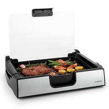 GRILL DE TABLE KLARSTEIN PLANCHA GRILL CONTACT CUISSON SANS GRAISSE 1500W NOIR