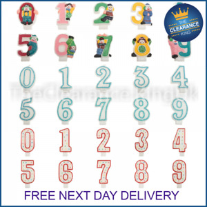 Glitter Number Candle White Blue Birthday Party Cake Decoration 0-9