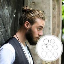 8pcs Men Headbands Wavy Hairbands Creative Metal Chic Male Sport Hairbands