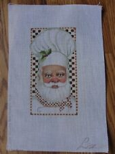 Santa Chef Ornament Hand Painted Needlepoint Liz OR-176 Tapestry Tent : tapestry tent needlepoint - memphite.com