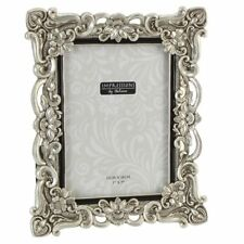 Antique Silver Finish Crystals Photo Frame.4 X 6. 5 X 7. 6 X 8. 8 X 10