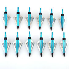 12pcs Archery 125 Grain 3 Blade Arrow Hunting Arrow Heads Screw