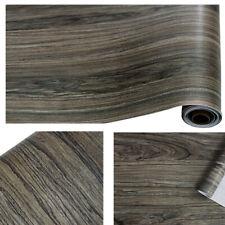 Vinyl Wood Grain Wallpaper Self Adhesive Shelf Liner Furniture Wall Stickers 6m