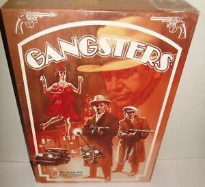 Avalon Hill Gangsters Prohibition Era Crime Game Boxed 1992 Thugs Cops Vamps