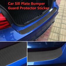 Auto 4D Carbon Fiber Trunk Protection Strip Sill Scuff Cover Car Plate Sticker