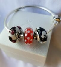 Lot/set 3 pieces Minnie Mickey Mouse Pandora Disney Charms silver 925 Authentic