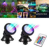 Submersible RGB LED Aquarium Lights Fish Tank 72 Lamps SpotLanp Garden Fountain