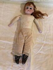 """Antique German Kestner 15"""" Doll Bisque Head/Hands Leather Body 154 DEP 3"""