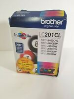 NEW Brother LC201CL-Innobella Magenta Cyan Yellow Ink Cartridge-3pk-EXP 01/22