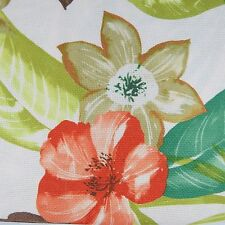 Casual Living Tablecloth Tropical Floral Pattern 70 in Round Beige Green Coral