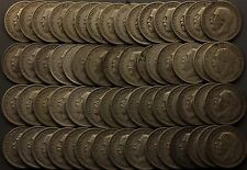 Pre 1947 King George V shillings silver coins mostly scrap bullion 60 coins
